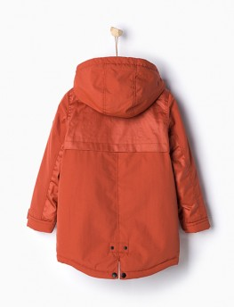 Parka with faux